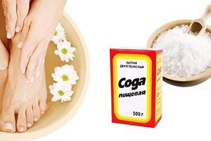 Сода при грибке ногтей